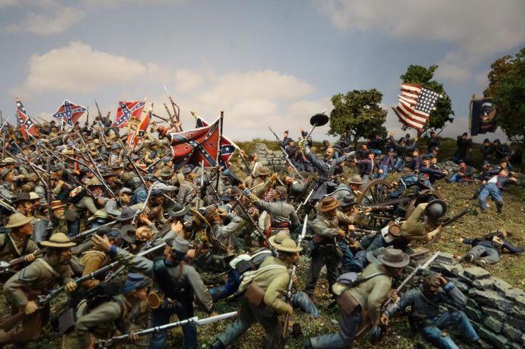 Diorama of Pickett's Charge.  (Toy-Soldiers-General-Armistead-Battle-of-Gettysburg)-2.jpg (1024×682)