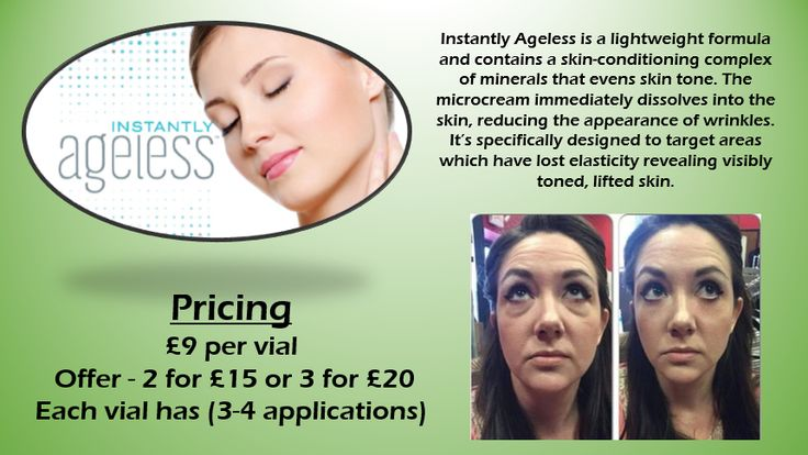 Instantly Ageless is an anti #wrinkle cream that works like #botox without the needles! Get yours today #essex #women #beauty #skin #skincare #ELC http://goo.gl/Kz0jHr