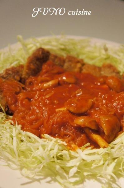 ☆ビーフカツレツ~なめこのトマトソース~☆ by JUNOさん   レシピ ...