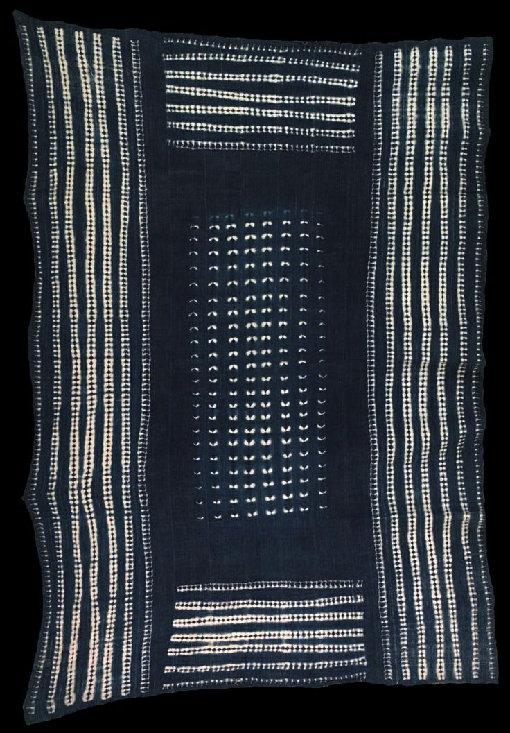 Africa | Wrapper from the Dogon people of Mali | Cotton; indigo dyed | 2003.