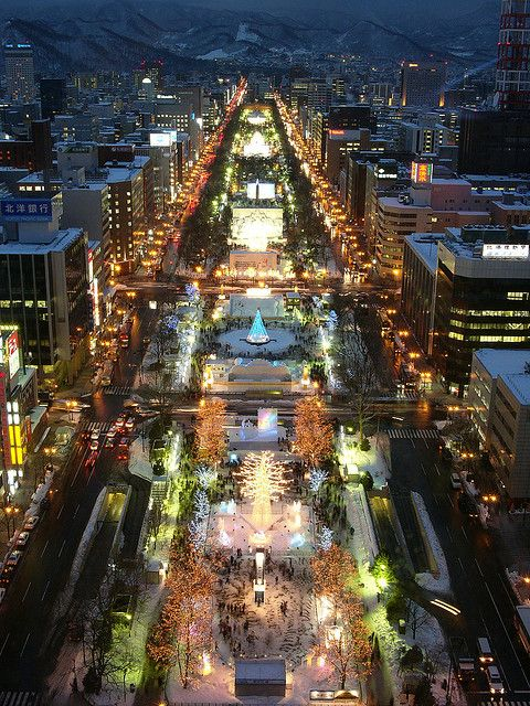 Sapporo Snow Festival #Hokkaido #Japan ........Japan Does it up Great! The know how./