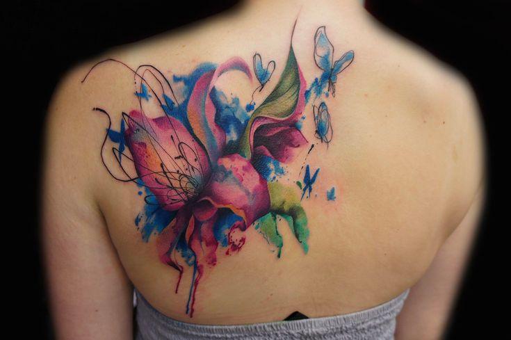 Сказочная акварельная татуировка | Artifex.ru