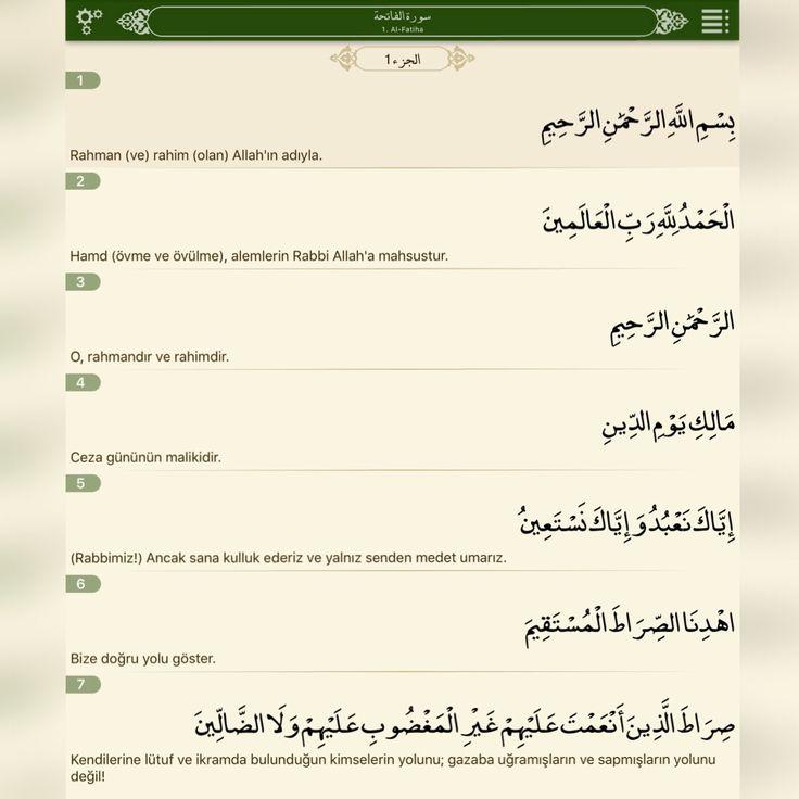Fatiha Suresi ve Anlamı - Kısa Sureler - Kuran-ı Kerim