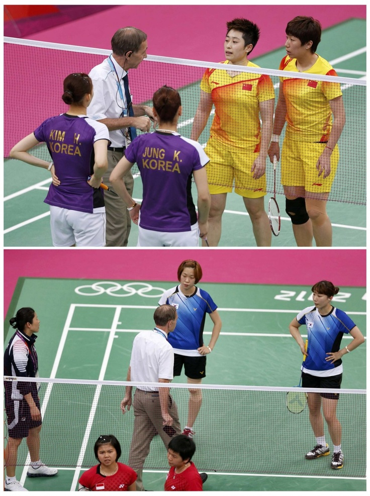 Badminton – Women's Doubles (China): Badminton Scandal! 8 competitors from China, Indonesia, and Korea, were disqualified for not using their best efforts. (Image Source: REUTERS) #London2012