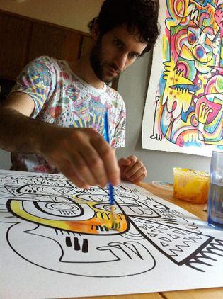 The Brooklyn-based artist's Jon Burgerman