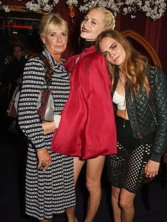 Star Tracks: Tuesday, September 22, 2015 | JUST US GIRLS  | Mom Pandora Delevingne attends the Love magazine Miu Miu London Fashion Week party with equally stylish daughters Poppy and Cara on Monday.