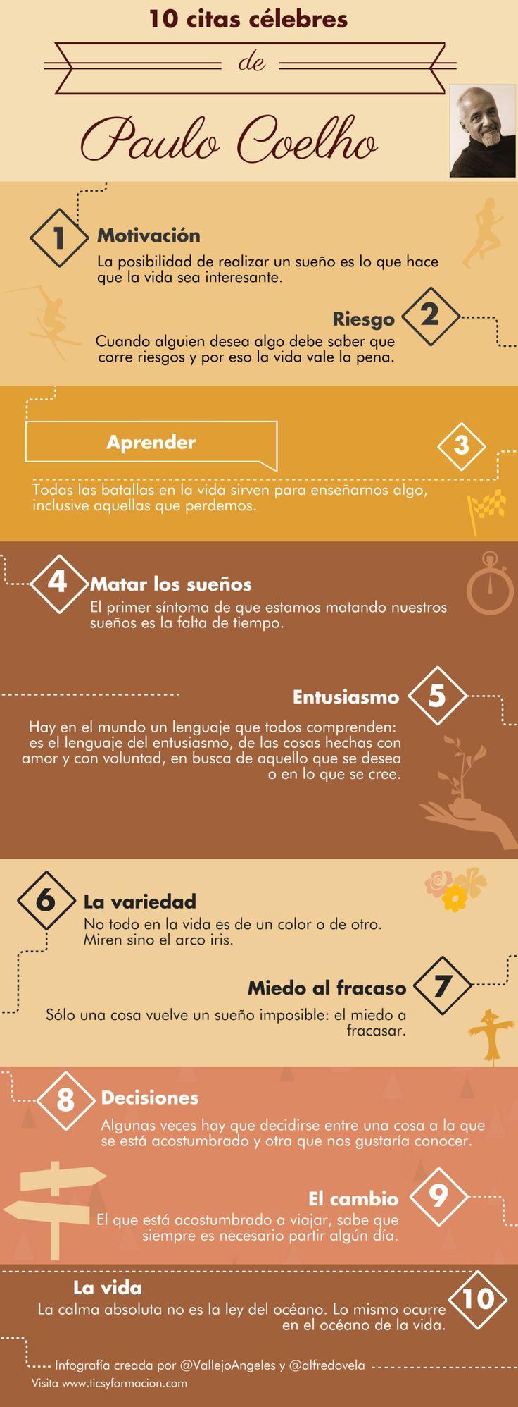 10 citas célebres de Paulo Coelho #infografia #infographic #citas #quotes