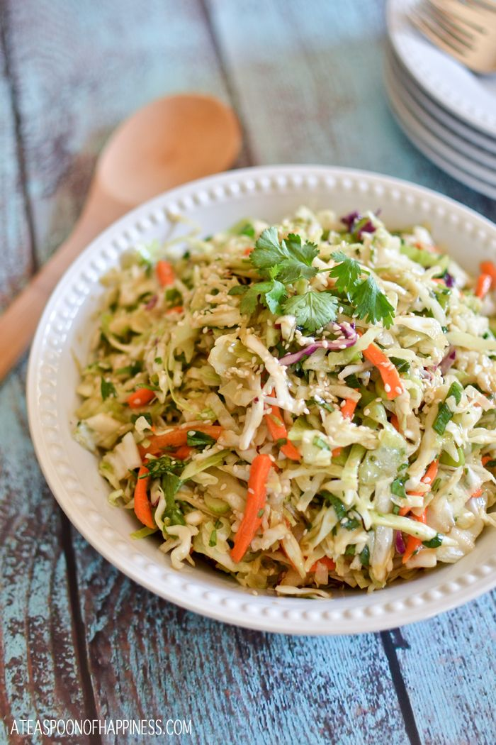 Sesame Wasabi Slaw~ I bet this would be good wrapped in rice paper, maybe with some chicken or shrimp. :o)