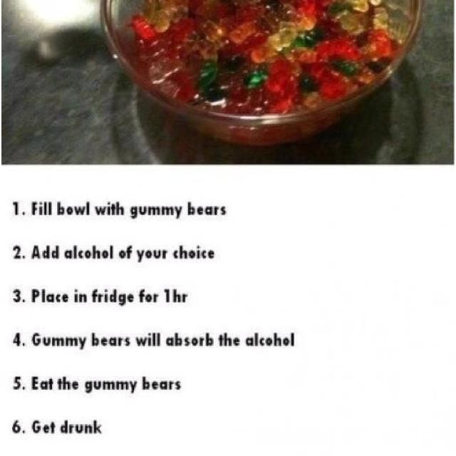 Mmmmm vodka gummys