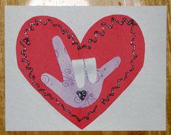 V-Day craft: Valentines Crafts, Crafts For Kids, Valentine Crafts, Crafts Signs, Google Search, Valentine'S S, Preschool Valentines, Signs Language, Valentines Day Crafts