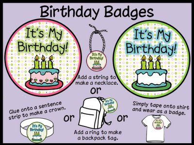 Peace, Love and Learning: A Birthday Freebie: Classroom Holiday, Star Student Birthdays, Class Birthdays, Classroom Birthdays, Classroom Ideas, Birthdays Star, Bb Badges, Learning Birthday Badges