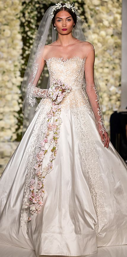 Swoon worthy dresses from bridal fashion week new york for Saks fifth avenue wedding guest dresses