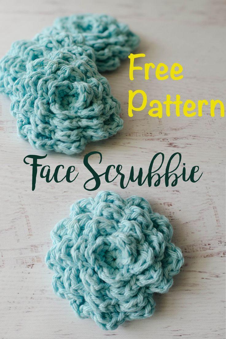 Free pattern for crochet face scrubbies