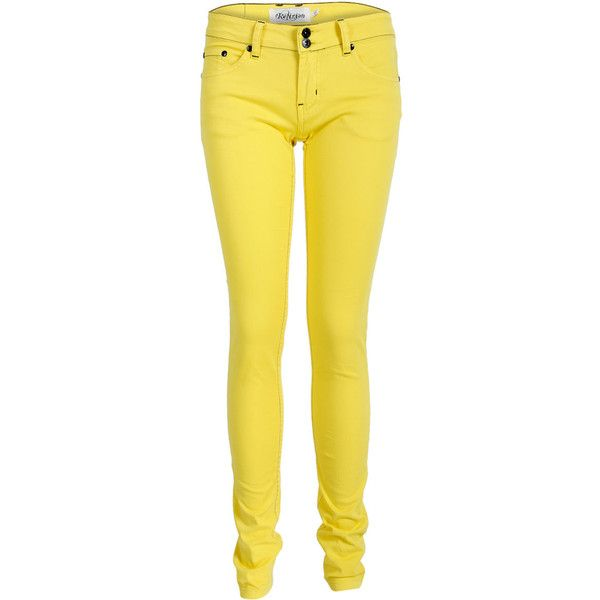 NEW RELIGION WOMENS YELLOW COLOURED SLIM FIT LADIES SKINNY DENIM JEANS SIZE 8-14 found on Polyvore