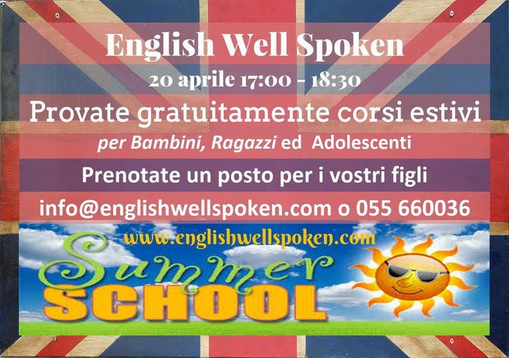 Con questi corsi i vostri figlisi divertiranno e impareranno a parlare Ingleseallo stesso tempo. Seguire uno dei nostri corsi comporterà un vero salto di qualità nell'apprendimento dell'inglese dei vostri figli perché:   bambini e ragazzi saranno sempre incoraggiati a parlare in inglese  gli insegnanti madrelingua parleranno sempre in inglese e questo aiuterà l'apprendimento