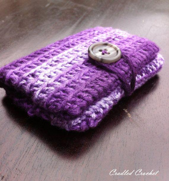 Anyone looking for a fab. crochet wallet??  Purple tones crochet wallet gift card credit by cradledcrochet, $7.00
