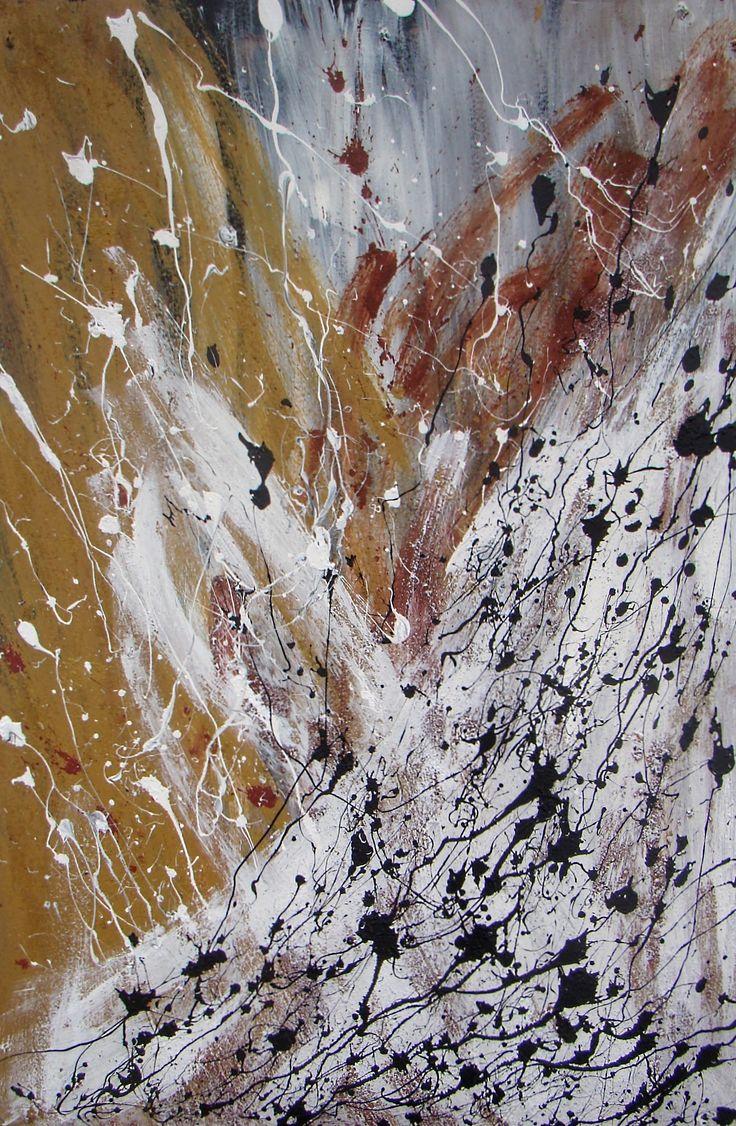 """Acrylic 80x120cm -  """"buried layers"""" - 2014"""