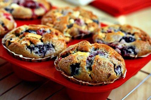 Маффины и кексы с фруктами и ягодами