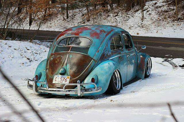 Patina Bug - Slammed Vw beetle Oval