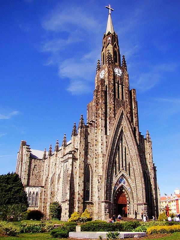 Canela (RS) - Catedral de Pedra  Foto: Miriam de Souza www.italianobrasileiro.com