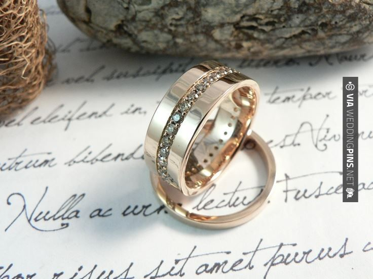So cool - Imagenes de Anillos de Boda Custom made, 18k pink gold and champagne diamonds wedding rings by  -:-:-:-  Anillos de boda en oro rosa de 18k y diamantes champan by | CHECK OUT THESE OTHER AMAZING TEMPLATES FOR GREAT Imagenes de Anillos de Boda HERE AT WEDDINGPINS.NET | #ImagenesdeAnillosdeBoda #Anillos #weddingrings #rings #engagementrings #boda #weddings #weddinginvitations #vows #tradition #nontraditional #events #forweddings #iloveweddings #romance #beauty #planne