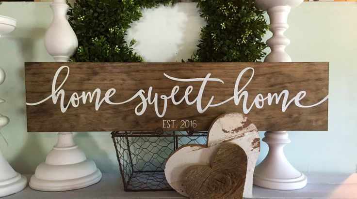 home sweet home sign, home sweet home, family name sign, established wood sign, wooden sign, rustic family sign, new home date, farmhouse by WoodSignStudio on Etsy https://www.etsy.com/listing/275213040/home-sweet-home-sign-home-sweet-home