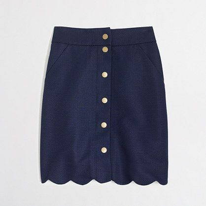 button-front scallop skirt. j.crew