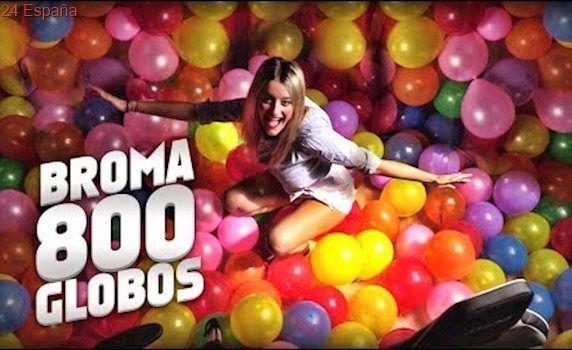 ¡¡LE LLENO LA HABITACIÓN GAMER DE 800 GLOBOS A MI NOVIO!! (BROMA PESADA CÁMARA OCULTA) | FatiVázquez