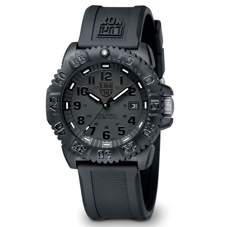 Genuine Navy SEAL Watch.  A black watch that has ALL of the hours and minutes in numerical form.  This is all I want...