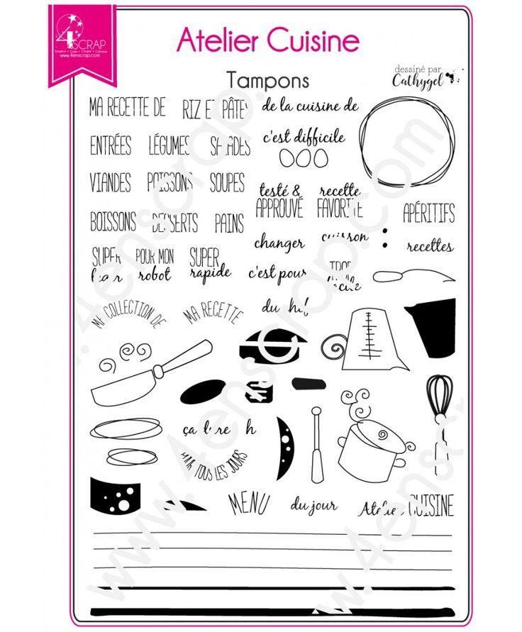 Tampon transparent Scrapbooking Carterie recette Atelier