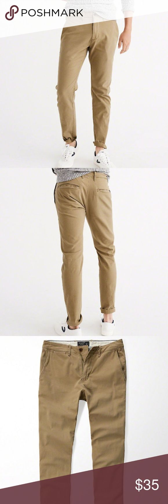 Abercrombie Fitch Men's Skinny Chino Pants 👍 Comfortable Soft and Stretch Men's Skinny Chino Pants from A&F. Very Stylish Cute Pants Must Buy!!! Waist 30 Inseam 30 Abercrombie & Fitch Pants Chinos & Khakis