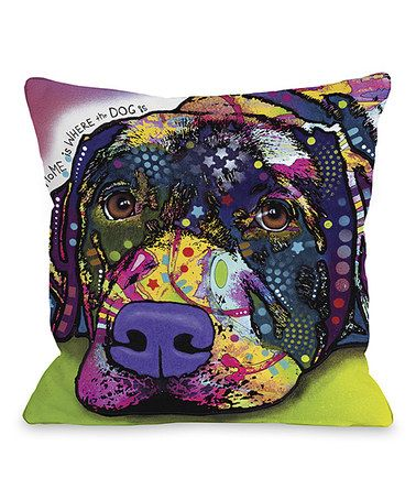 'Home Is Where the Dog Is' Dean Russo Pillow #zulily #zulilyfinds