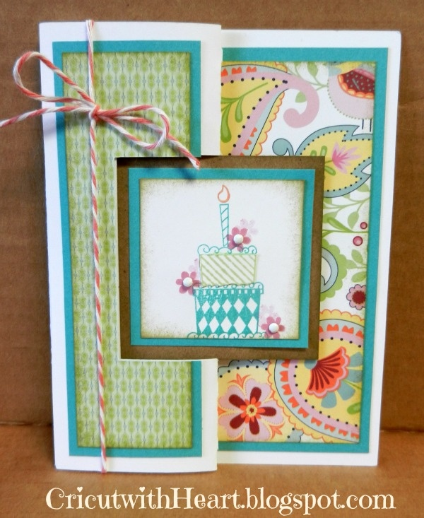 Cricut with Heart: Birthday Swing Card  #CTMH