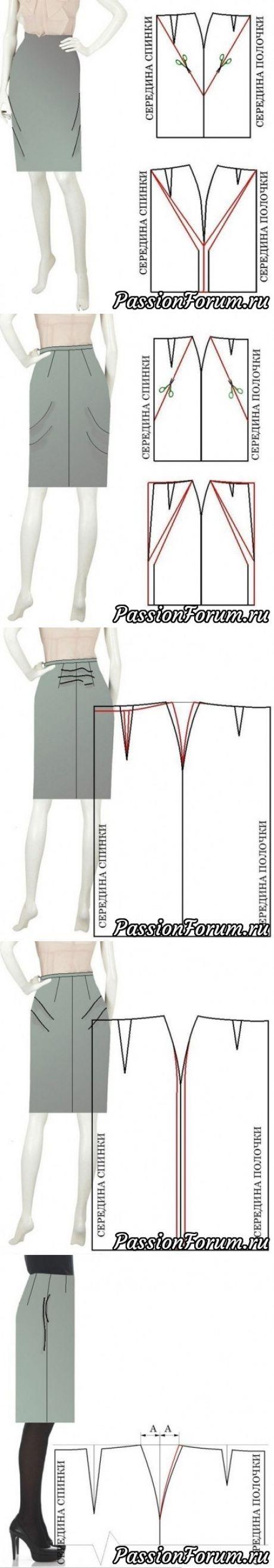 Skirt pattern alterations