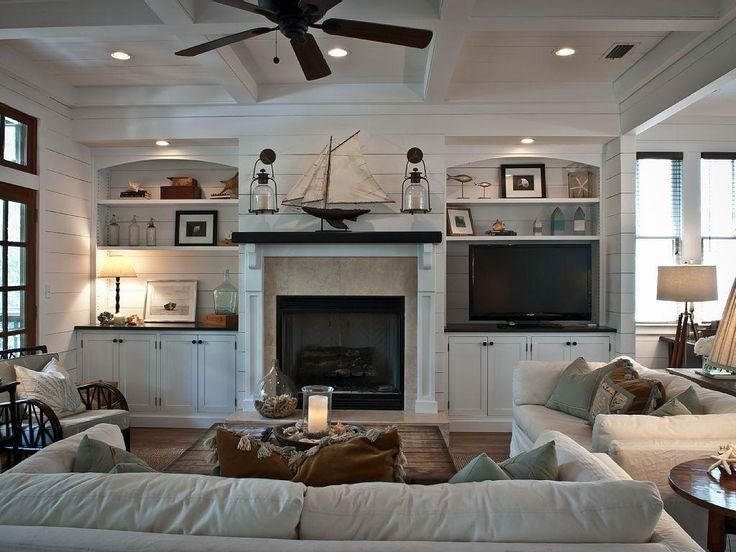 House Tour of a gorgeous beach house.  #Vintage American Home #Coastal Decorating