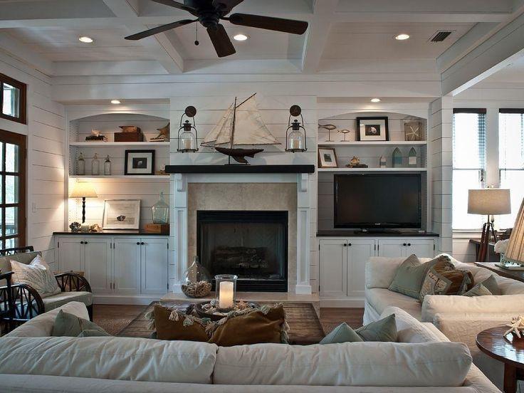 House Tour of a gorgeous beach house.  #Vintage American Home #Coastal Decorating