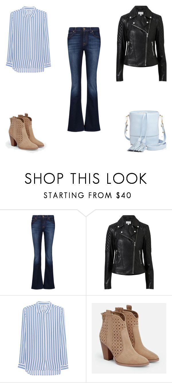 """Стиль 70-х: бохо + casual"" by elufimova-elena on Polyvore featuring мода, 7 For All Mankind, Witchery, iHeart, JustFab и Milly"