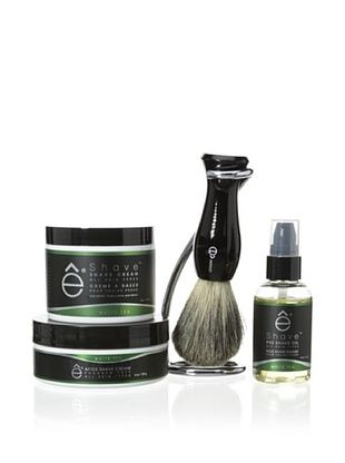 50% OFF eShave 4-Piece Set with Twist Stand in White Tea Scent, Black