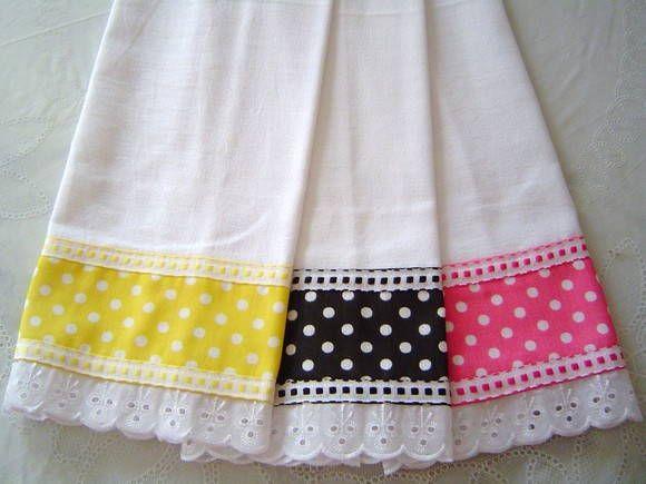 Pano de Prato c/Barrado Tecido de Algodão detalhe em bordado ingles varias cores e estampas  PREÇO UNITARIO: R$ 10,00 R$ 10,00