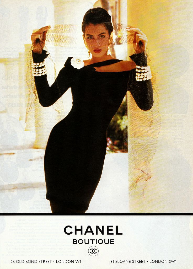 Yasmeen Ghauri by Chanel