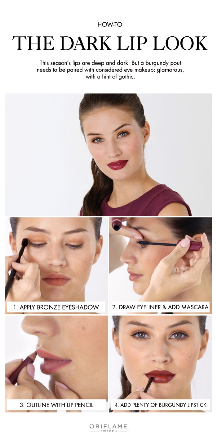 2015 lipstick colour trends to love. Here's our step-by-step tutorial for the dark lip look.