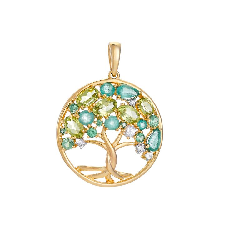 """d'oro+goldener+Anhänger+""""Lebensbaum""""+mit+Brillanten,+Smaragden,+Saphiren,+Peridoten+&+Tsavoriten Moderner+Anhänger+""""Lebensbaum"""",+gefertigt+aus+Gold+585.+Das+Schmuckstück+ist+mit+Brillanten,+Smaragden,+Saphiren,+Peridoten+und+Tsavoriten+besetzt.+Der+Lebensbaum+ist+das+Symbol+für+Ausgleich+und+Harmonie.+Ein+starkes,+schützendes+Zeichen+und+Sinnbild+für+die+richtige+Balance+im+Leben.+Eine+schöne+Geschenkidee."""