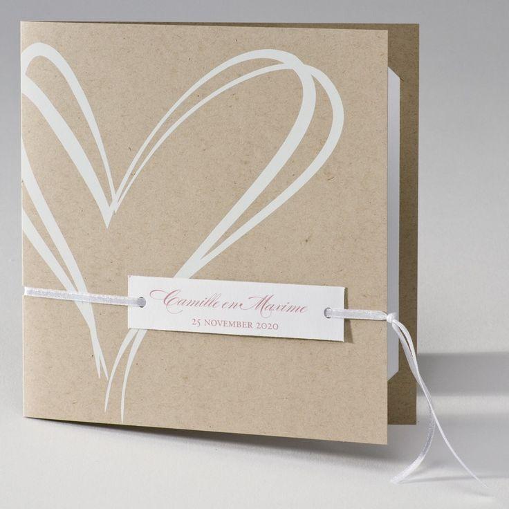 Ecokaart met wit hart