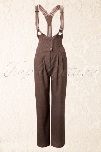 40s Brown and Beige Miss Fancy Pants