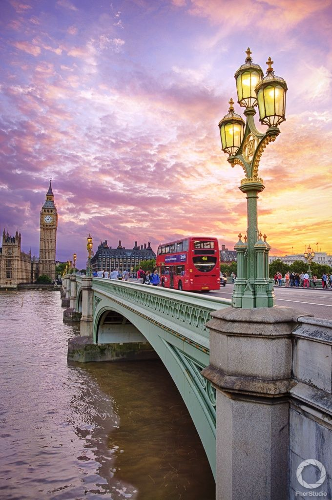 Sunset at Westminster , London, England