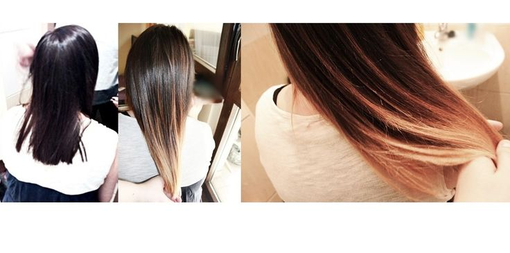 ombre, sombre. before/after