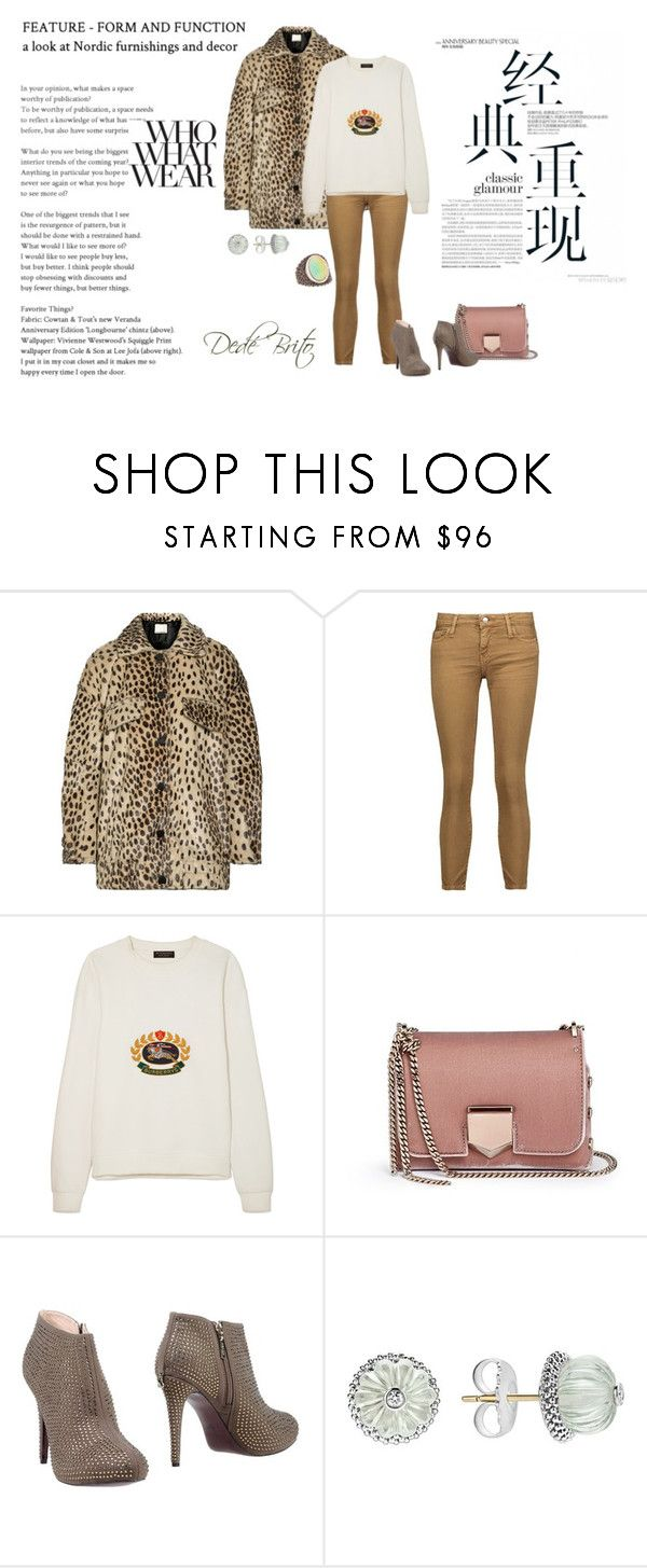 """""""Sem título #2786"""" by dedebrito ❤ liked on Polyvore featuring By Malene Birger, IRO, Burberry, Jimmy Choo, LIU•JO, Who What Wear and Lagos"""