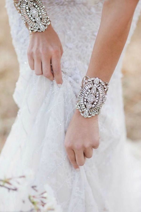 """They're called """"bridal cuffs"""" but I call them an excuse to get dressed up and go out!"""