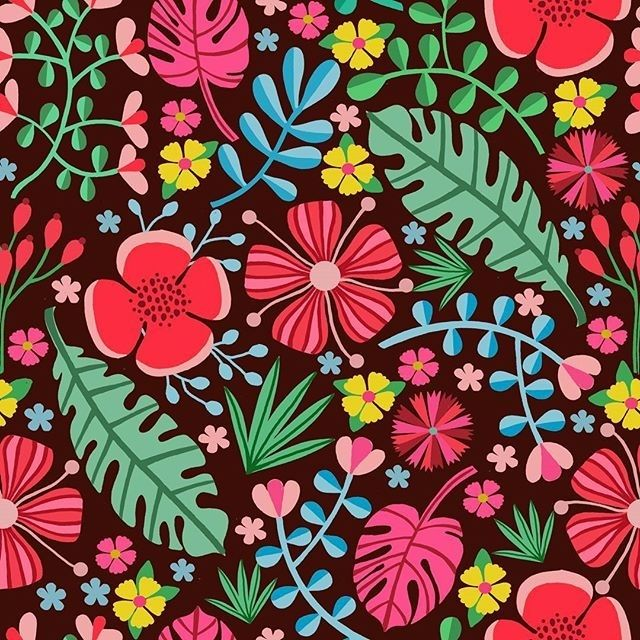 carolrobinsondesigns #Tropical #floralpatterns #surfacepattern #surfacepatterndesign #flowers#design #illustraton #repeatpattern #art #greetings #foliofocus #risedesignandshine #surfacespatterns