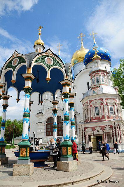 Monasterio de la Trinidad y San Sergio, Sergiev Posad, Rusia. Es el más importante de Rusia y el centro espiritual de la Iglesia Ortodoxa Rusa.